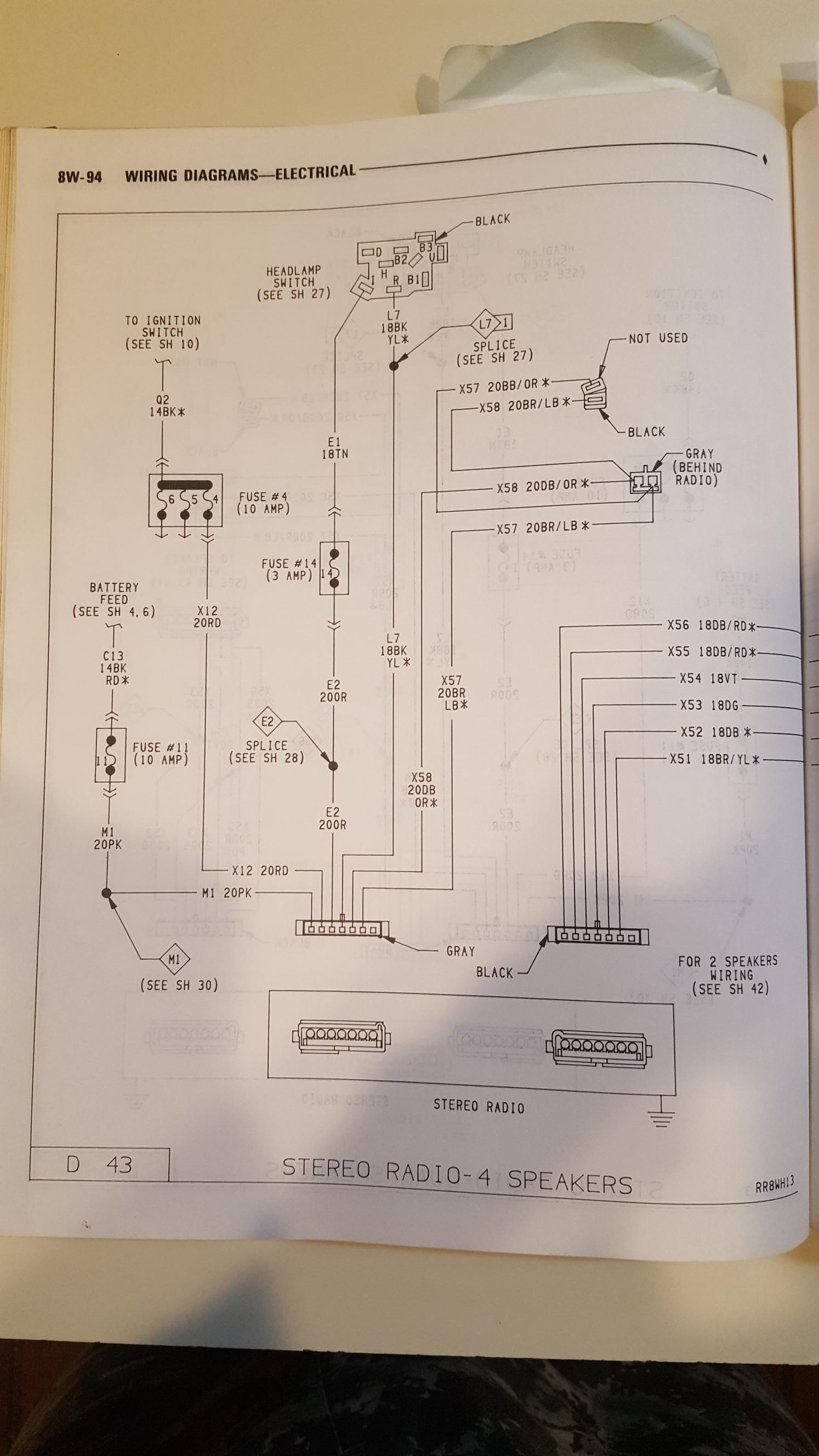 Stereo Wiring Diagram Help   Dodge Ram Cummins Diesels and MoparDodge Ram Cummins Diesels and Mopar
