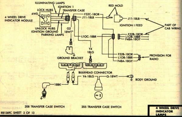 84 4wd Light Wiring Diagram Needed